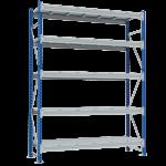 Стеллаж металлический среднегрузовой SGR 2500х1200х600 5 полок (500 кг на полку)