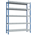 Стеллаж металлический среднегрузовой SGR 2500х1500х600 5 полок (500 кг на полку)